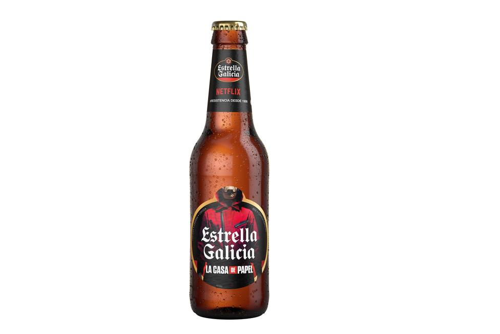cerveza estrella de Galicia serie la casa de papel