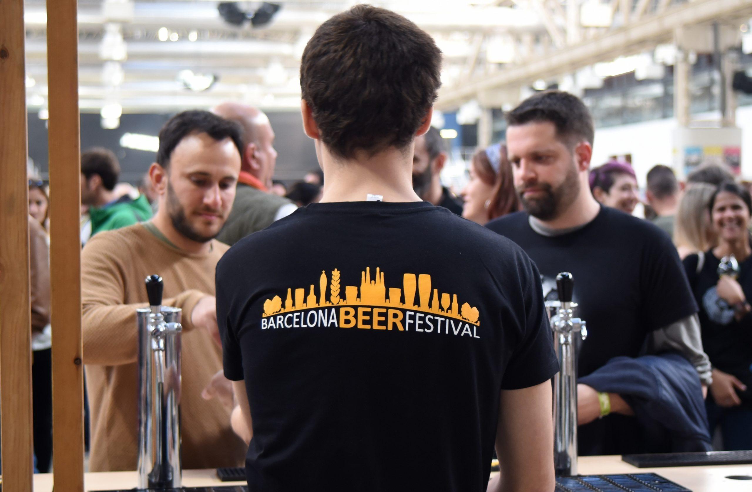 Barcelona beer festival. Puesto de una cervecera