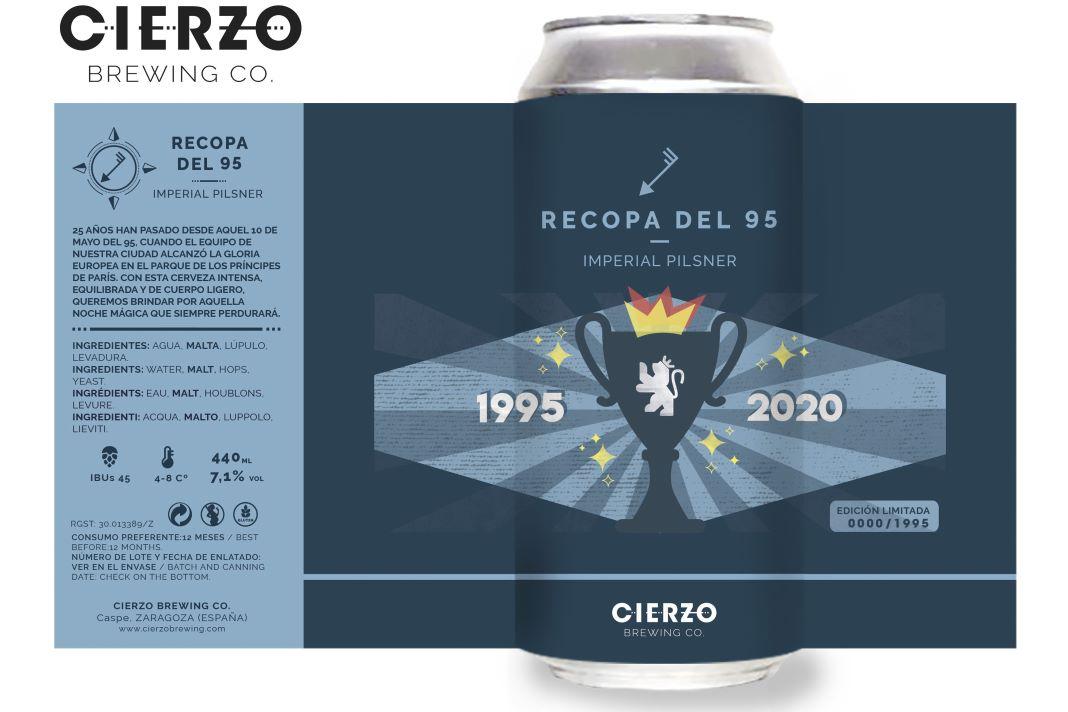 cerveza Cierzo Recopa del 95 cerveza