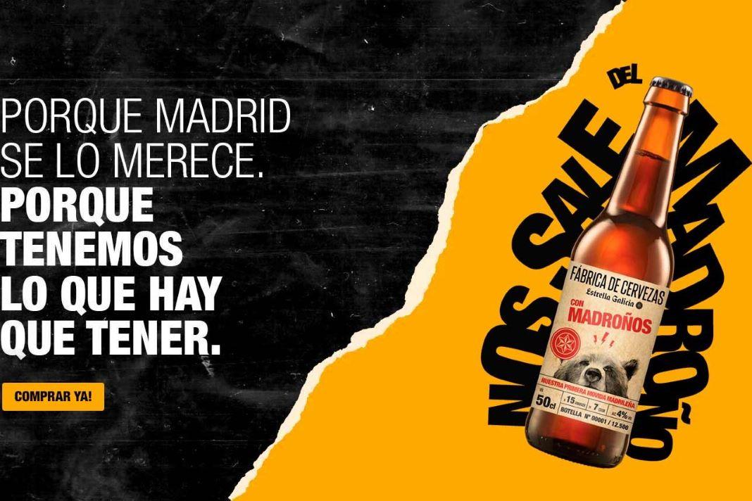 Estrella Galicia venta cerveza con madroños