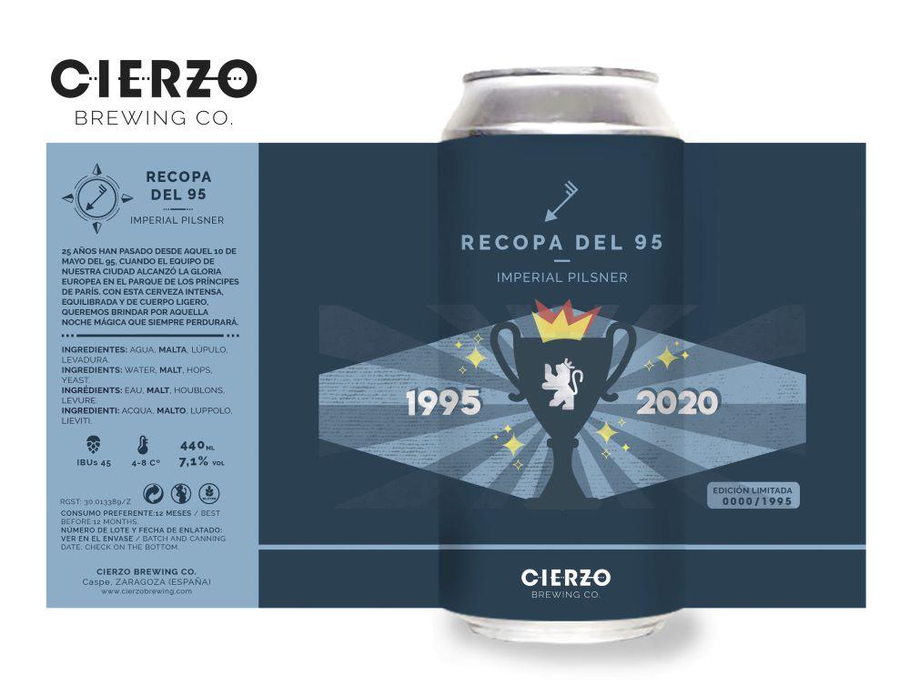 cerveza Cierzo Recopa del 95 cerveza y fútbol