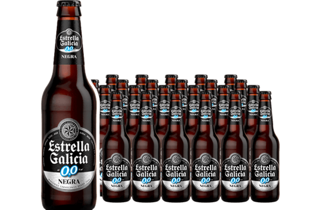 Cerveza Estrella Galicia 0,0 Negra