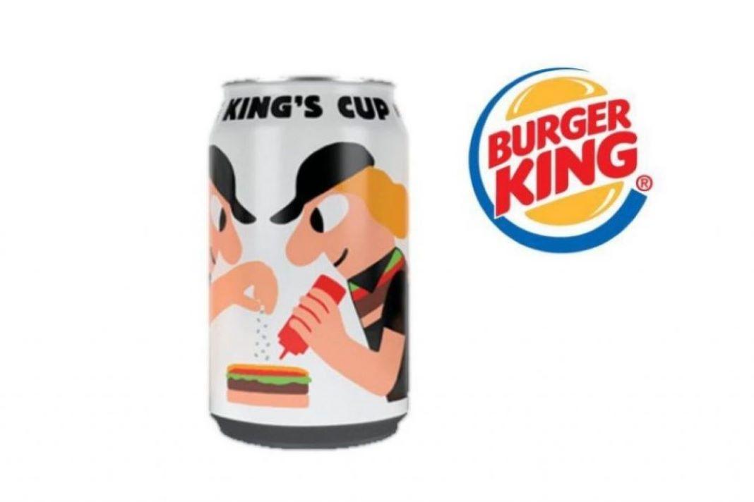 Lata de cerveza sin Alcohol de Burger King